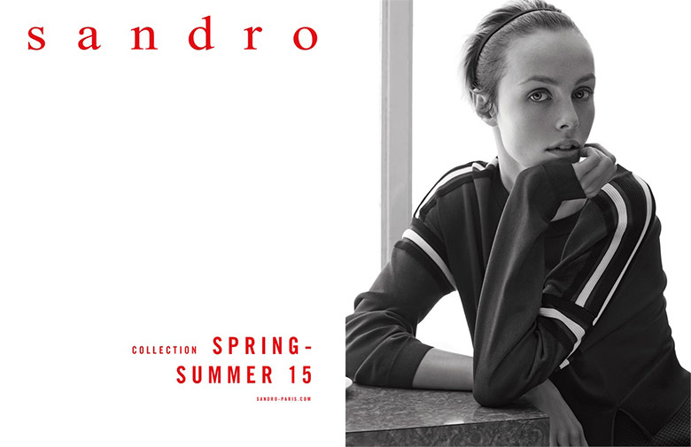 Photo Edie Campbell by Karim Sadli for Sandro S/S 2015
