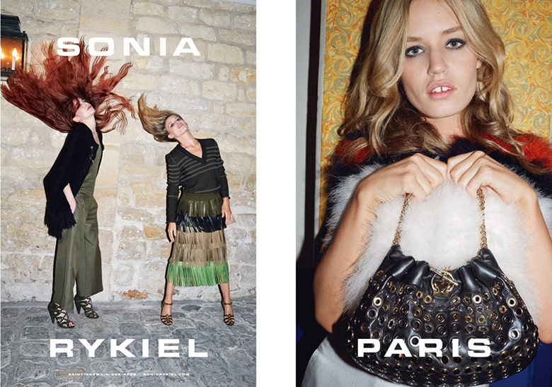 Photo Elizabeth & Georgia May Jagger by Juergen Teller for Sonia Rykiel S/S 2015