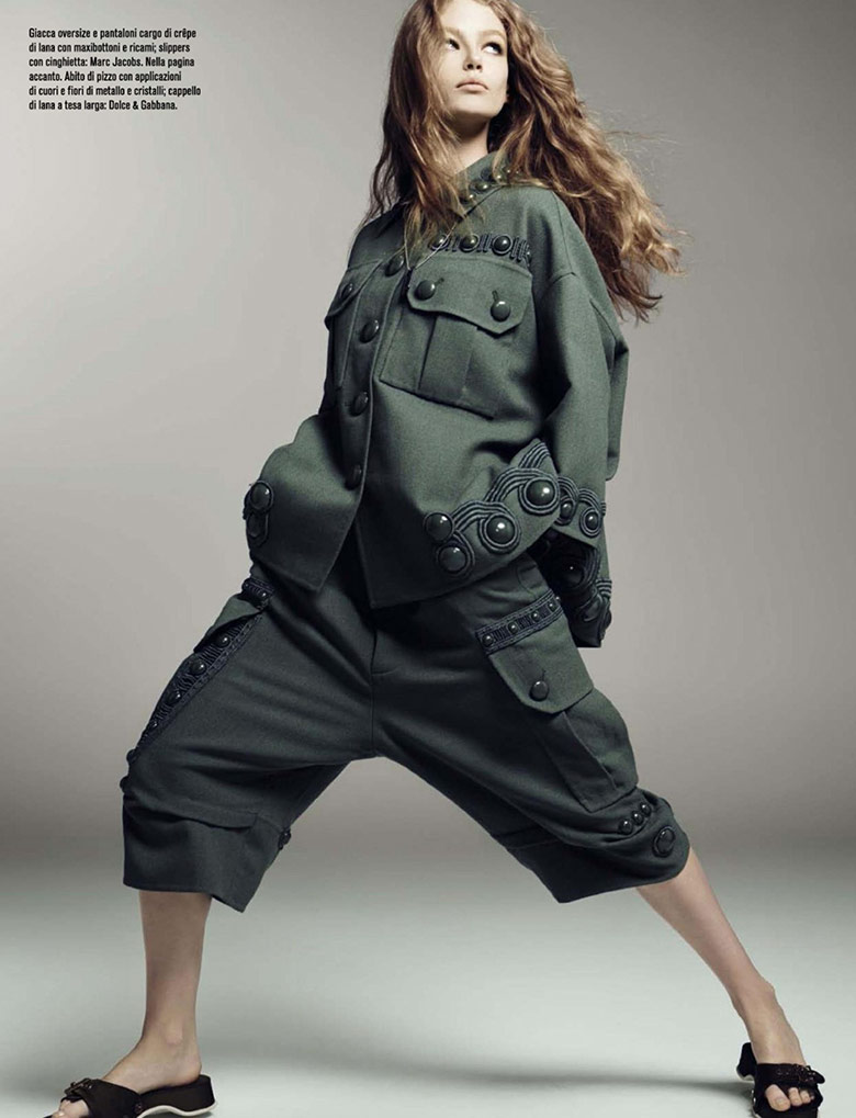 Photo Hollie May Saker stars in Vogue Italia January 2015