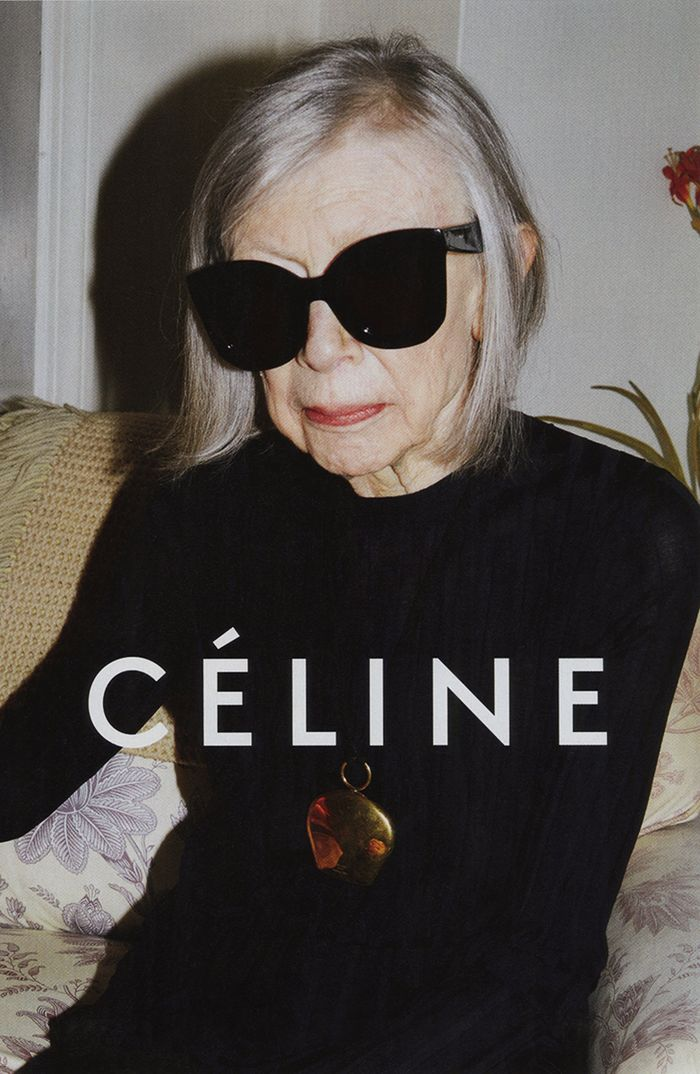 Photo Joan Didion for Celine S/S 2015
