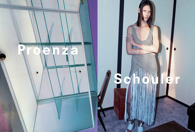 Photo Julia Bergshoeff by David Sims for Proenza Schouler S/S 2015