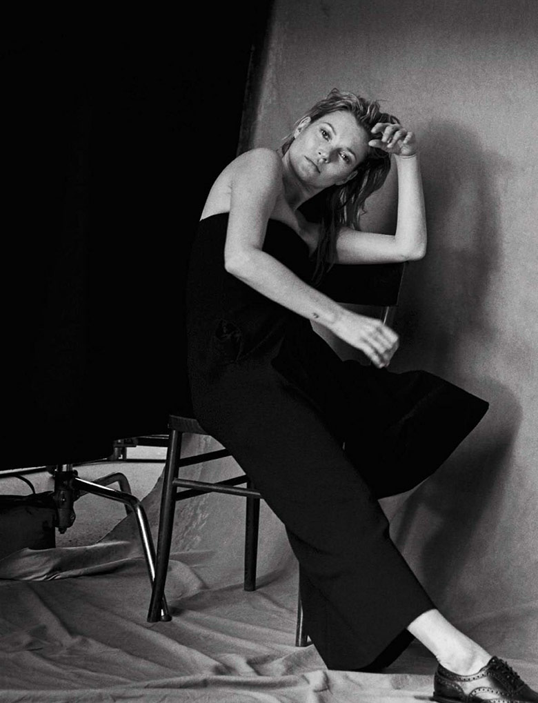 Photo Kate Moss by Peter Lindbergh for Vogue Italia January 2015