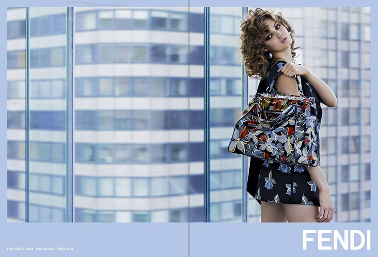 Photo Lindsey Wixson by Karl Lagerfeld for Fendi S/S 2015