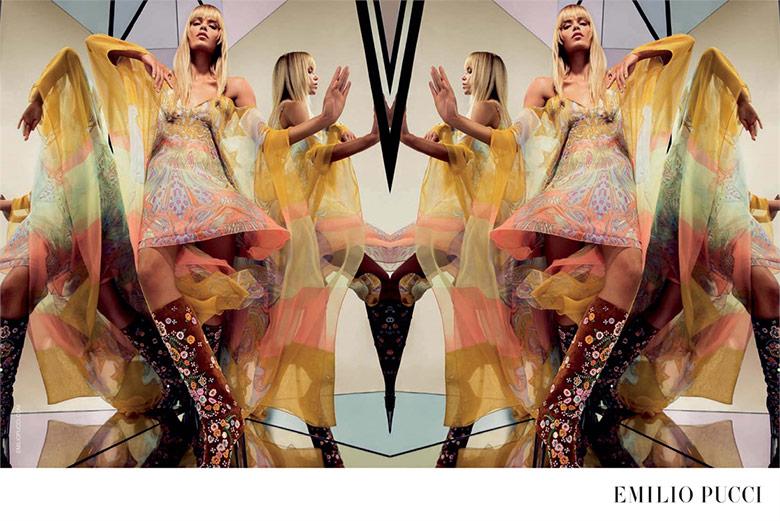 Photo Natasha Poly for Emilio Pucci SS 2015 by Inez & Vinoodh