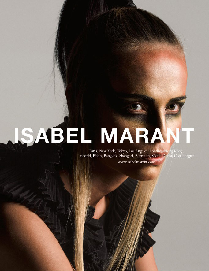 Photo Natasha Poly by Inez & Vinoodh for Isabel Marant S/S 2015