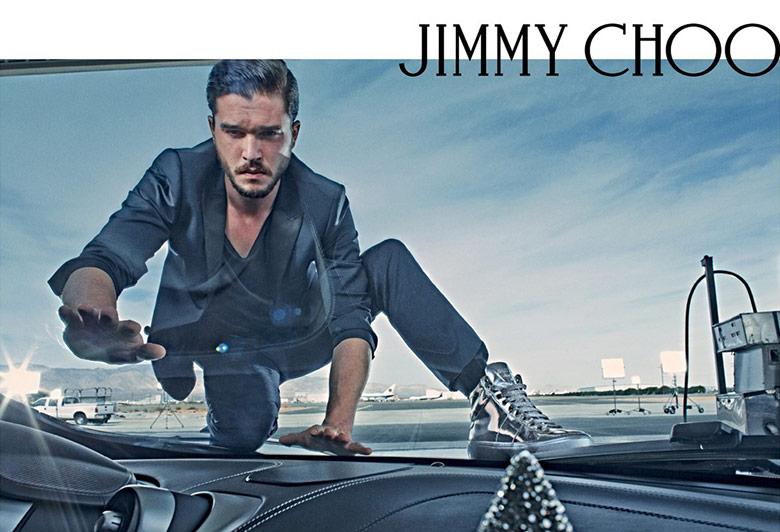 Photo Ondria Hardin & Kit Harington for Jimmy Choo S/S 2015