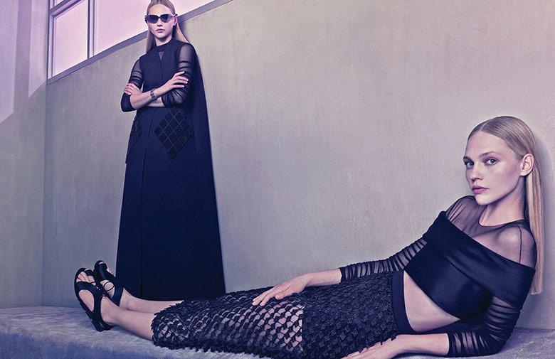 Photo Sasha Pivovarova for Balenciaga S/S 2015