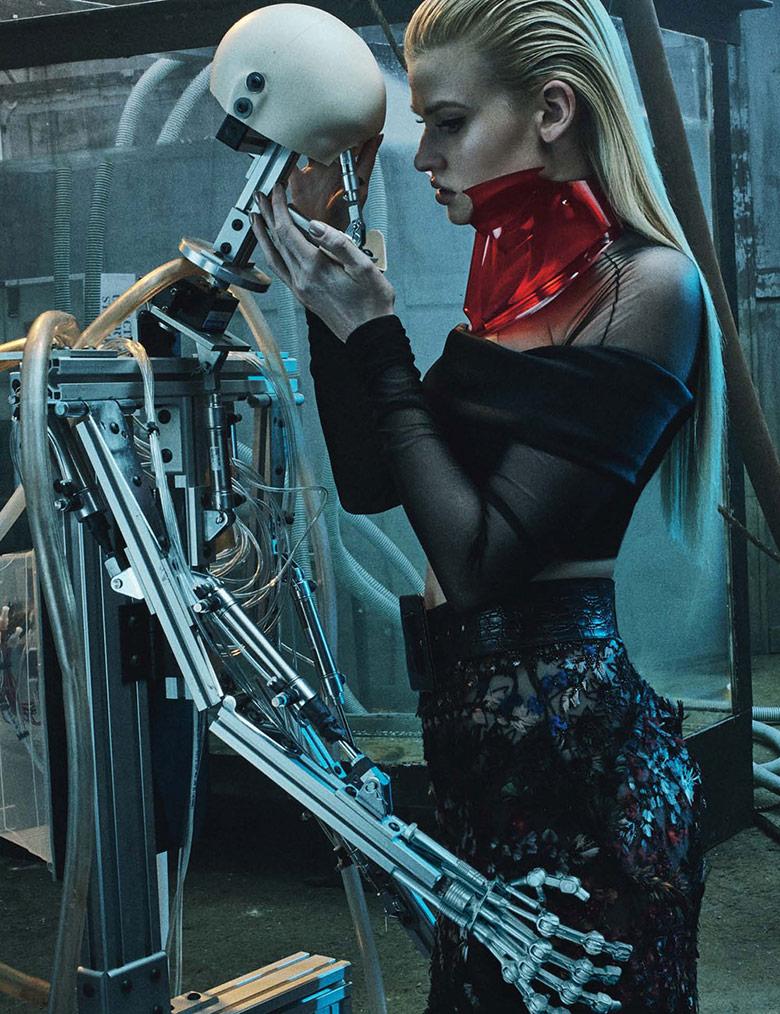 Photo Lara Stone by Steven Klein for W Magazine March 2015