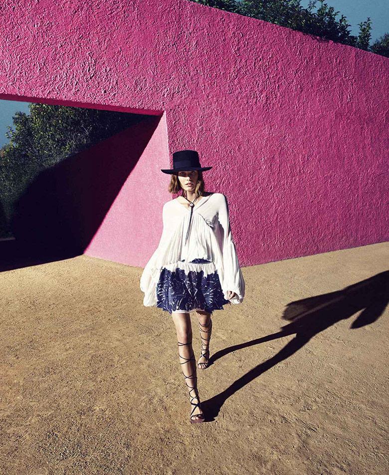 Photo Nadja Bender by Camilla Akrans for Harper's Bazaar US March 2015