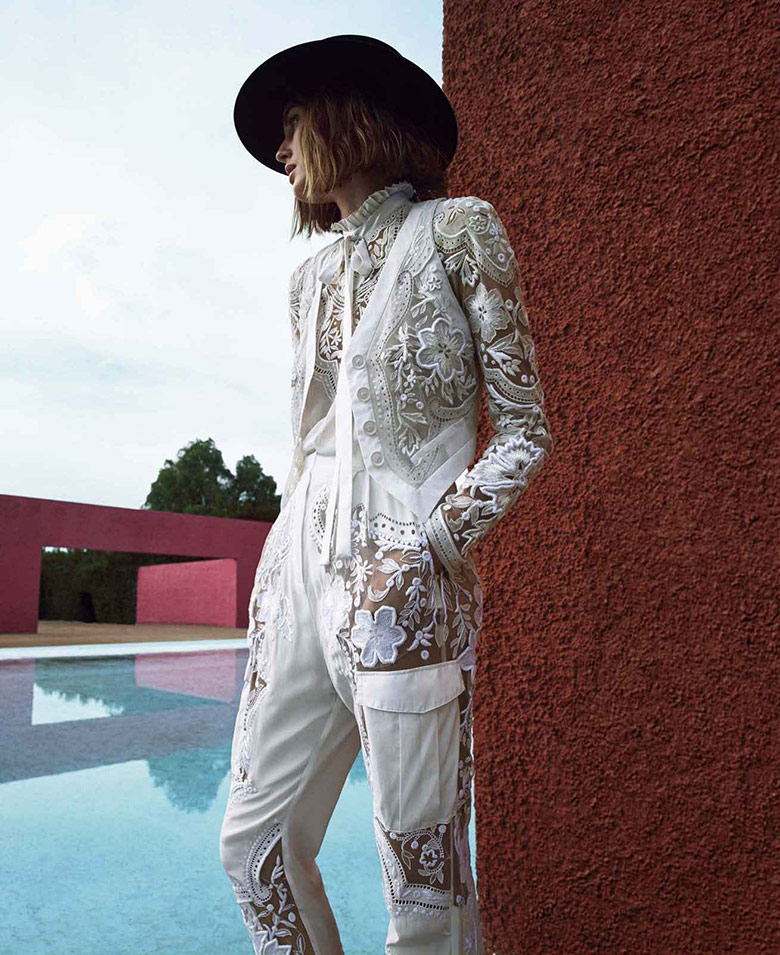 Photo Nadja Bender by Camilla Akrans for Harper's Bazaar US March 2015