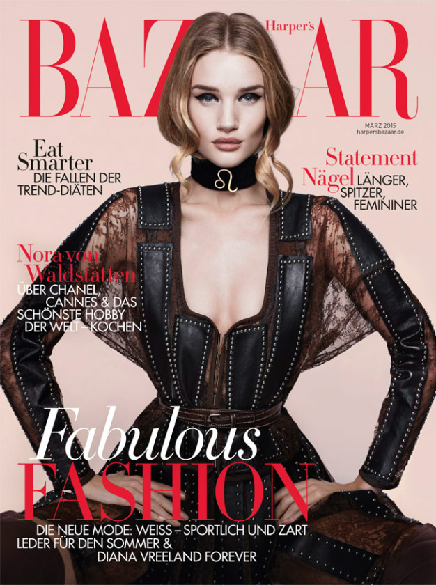 Photo Rosie Huntington Whiteley for Harpers Bazaar Germany March 2015