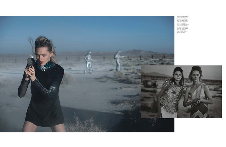 Photo Sasha Pivovarova & Natalie Westling by Peter Lindbergh for W March 2015