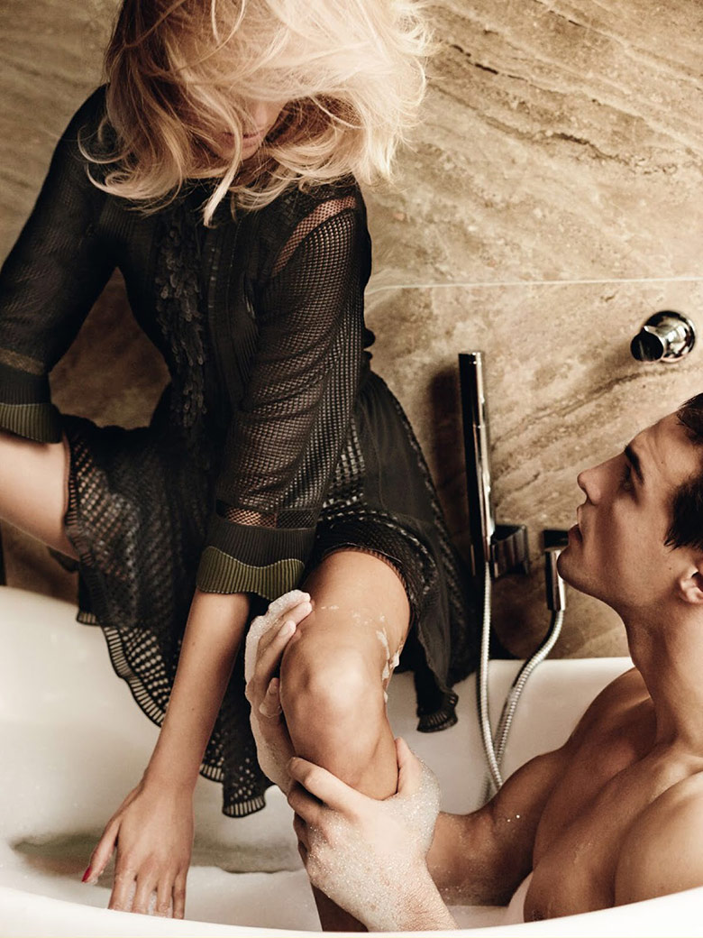 Photo Anja Rubik & Nikolai Danielsen for Vogue Paris April 2015
