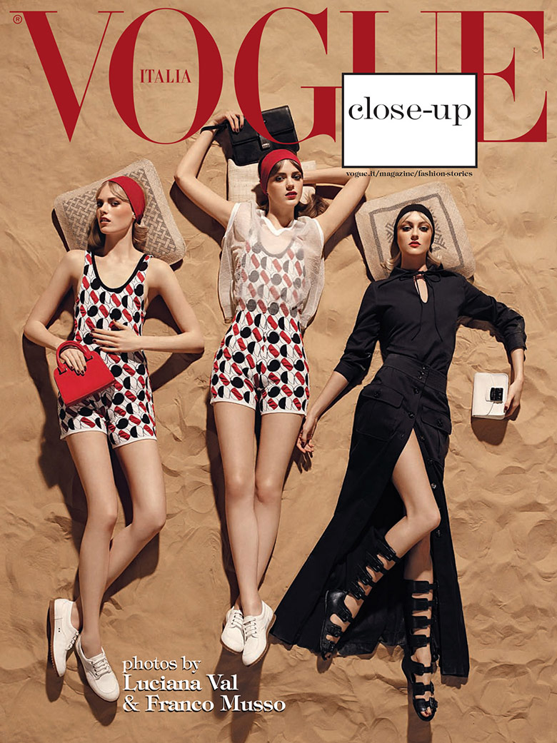 Photo Frances, Esther & Charlene for Vogue Italia March 2015