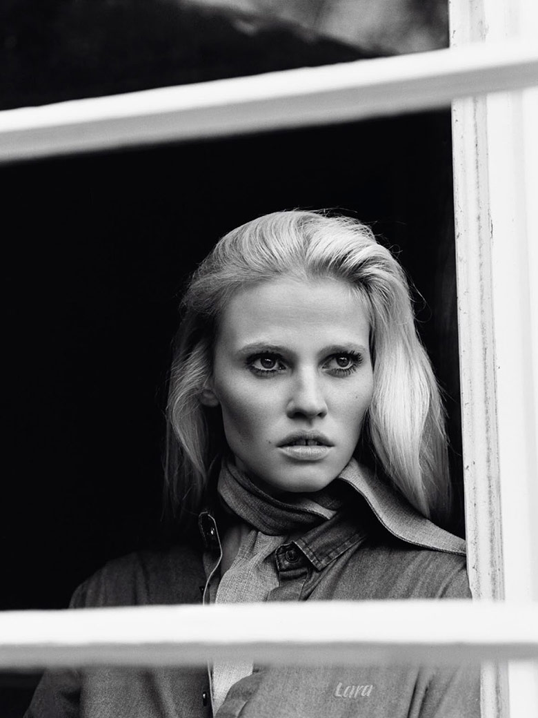 Photo Lara Stone by Alasdair Mclellan for Vogue Paris April 2015