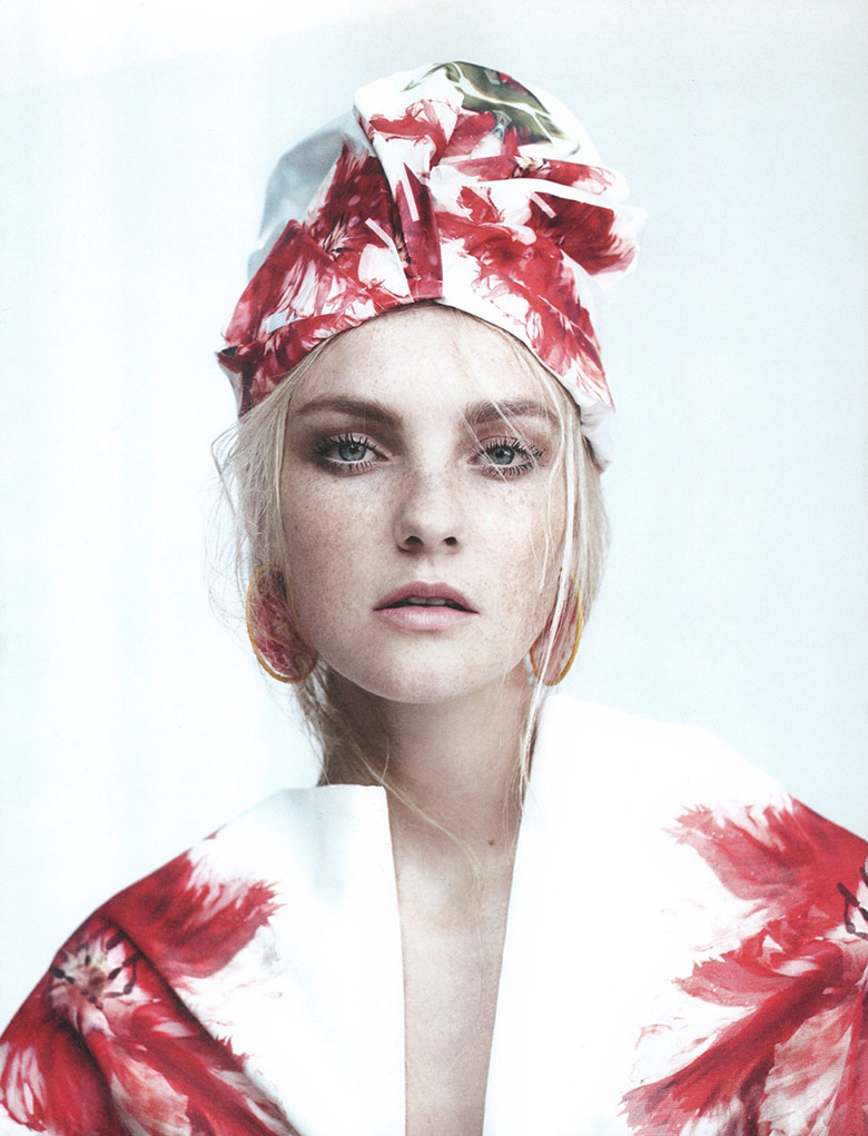 Photo Caroline Trentini by Willy Vanderperre for W May 2015
