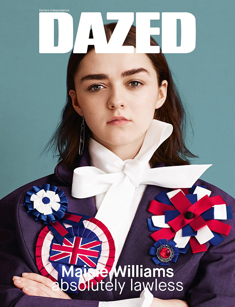 Photo Maisie Williams by Ben Toms for Dazed S/S 2015
