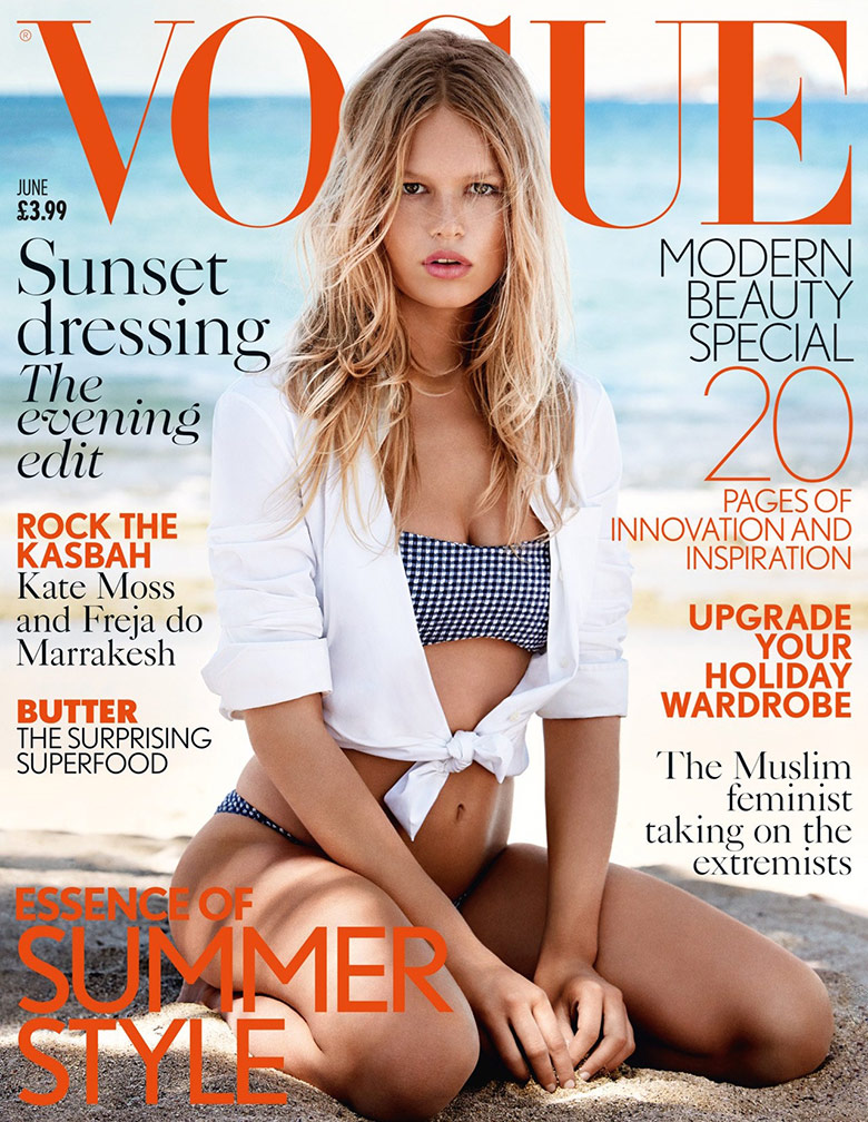 Photo Anna Ewers by Patrick Demarchelier for Vogue UK June 2015