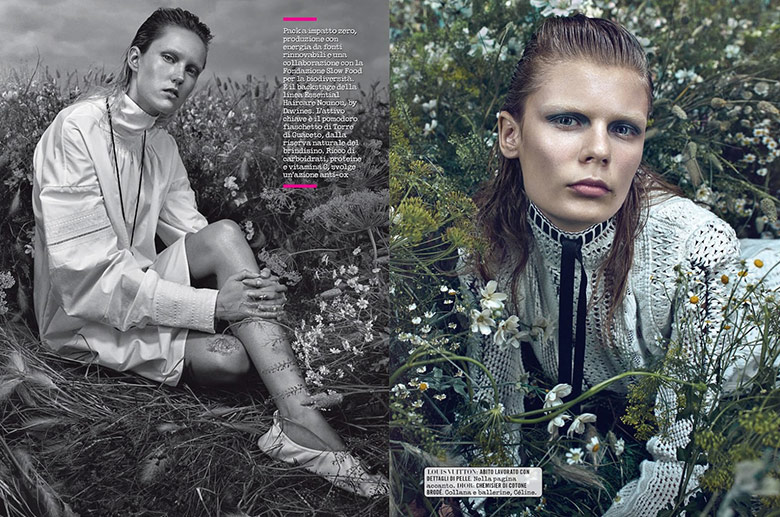 Photo Elizabeth Ljadov & Harleth Kuusik for Vogue Italia May 2015