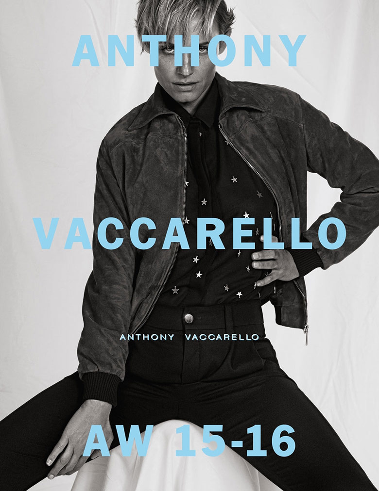 Photo Amber Valletta for Anthony Vaccarello Fall Winter 15 16