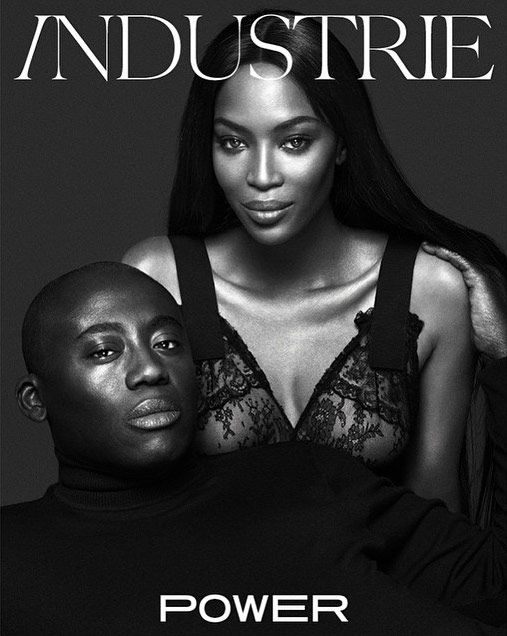 Photo Edward Enninful & Naomi Campbell by Mert & Marcus for Industrie 8
