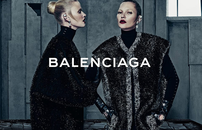 Photo Kate Moss & Lara Stone by Steven Klein for Balenciaga F/W 2015