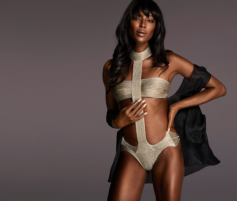 Photo Naomi Campbell for La Perla F/W 15/16 Campaign