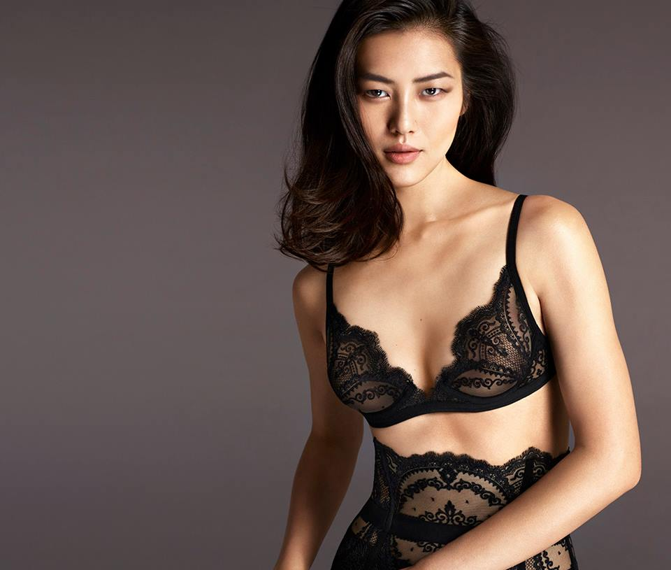 Photo Natasha Poly, Izabel Goulart, Liu Wen & Isabeli Fontana for La Perla F/W 2015.16
