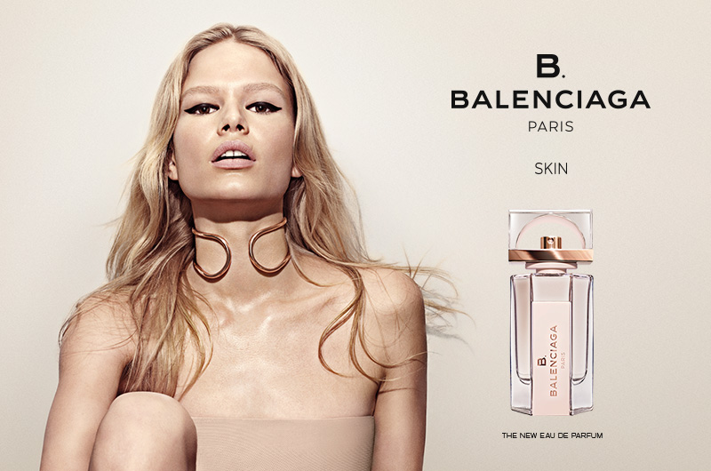 Photo Anna Ewers for B.Balenciaga Fragrance