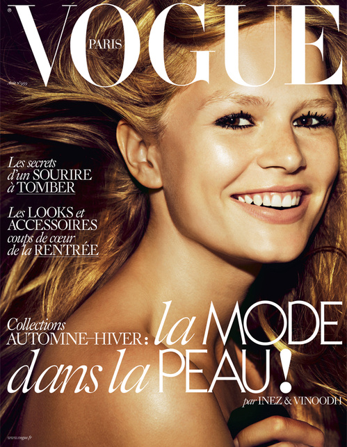 Photo Anna Ewers by Inez & Vinoodh for Vogue Paris August 2015