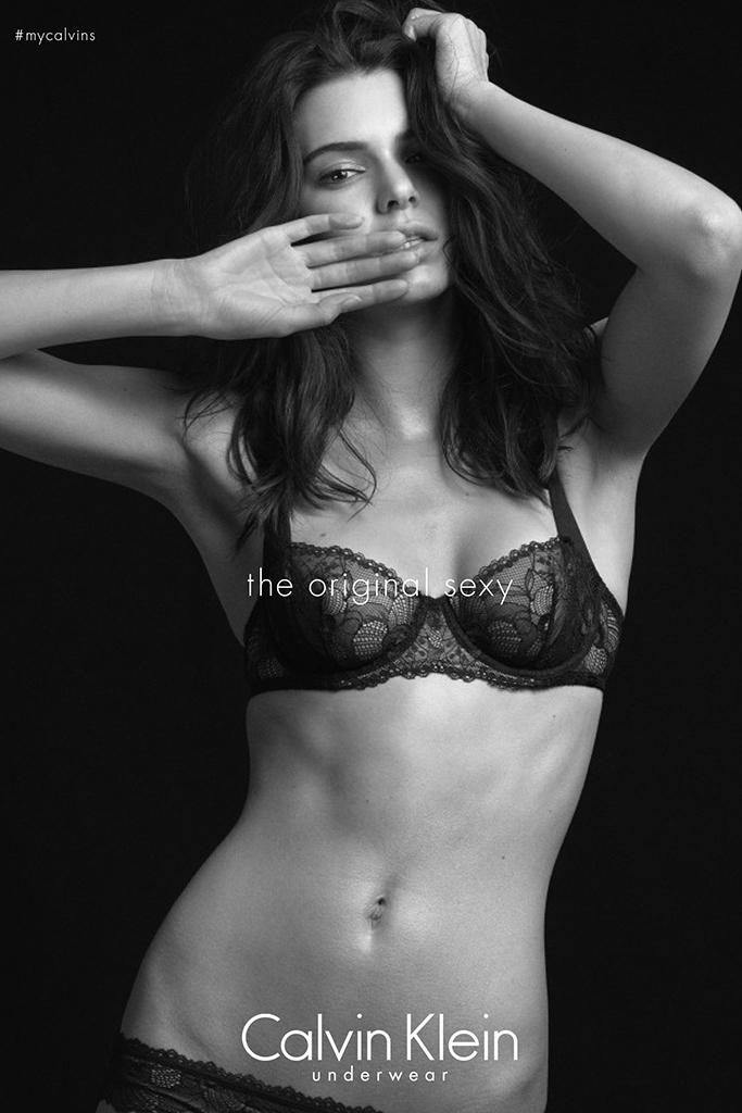 Kendall Jenner in Calvin Klein Underwear ad.