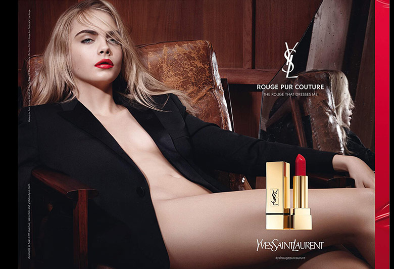 Photo Cara Delevingne for YSL Beauty F/W 15/16