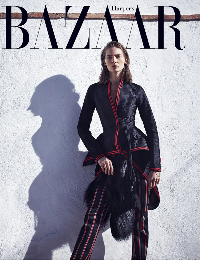 Photo Karolin Wolter by Nathaniel Goldberg for Harpers Bazaar US September 2015