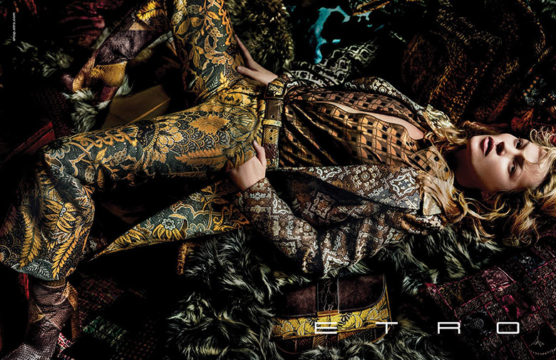 Photo Kate Moss for Etro Fall/Winter 2015/2016