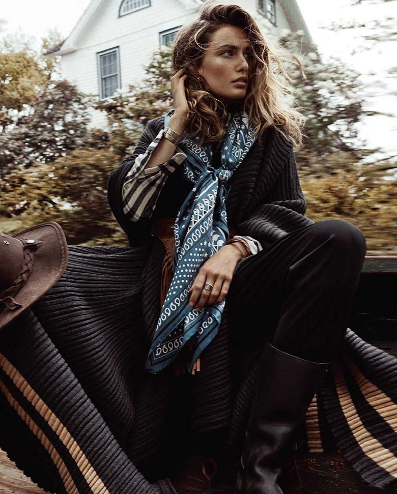 Photo Andreea Diaconu by Benny Horne for Vogue Spain October 2015