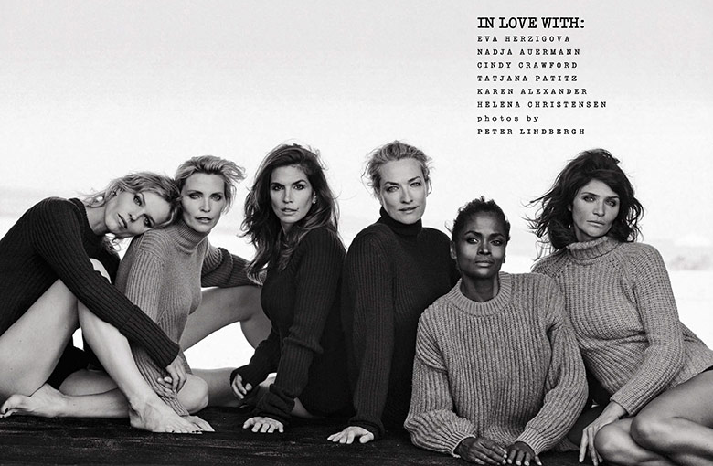 Photo 'In Love With' by Peter Lindbergh for Vogue Italia September 2015