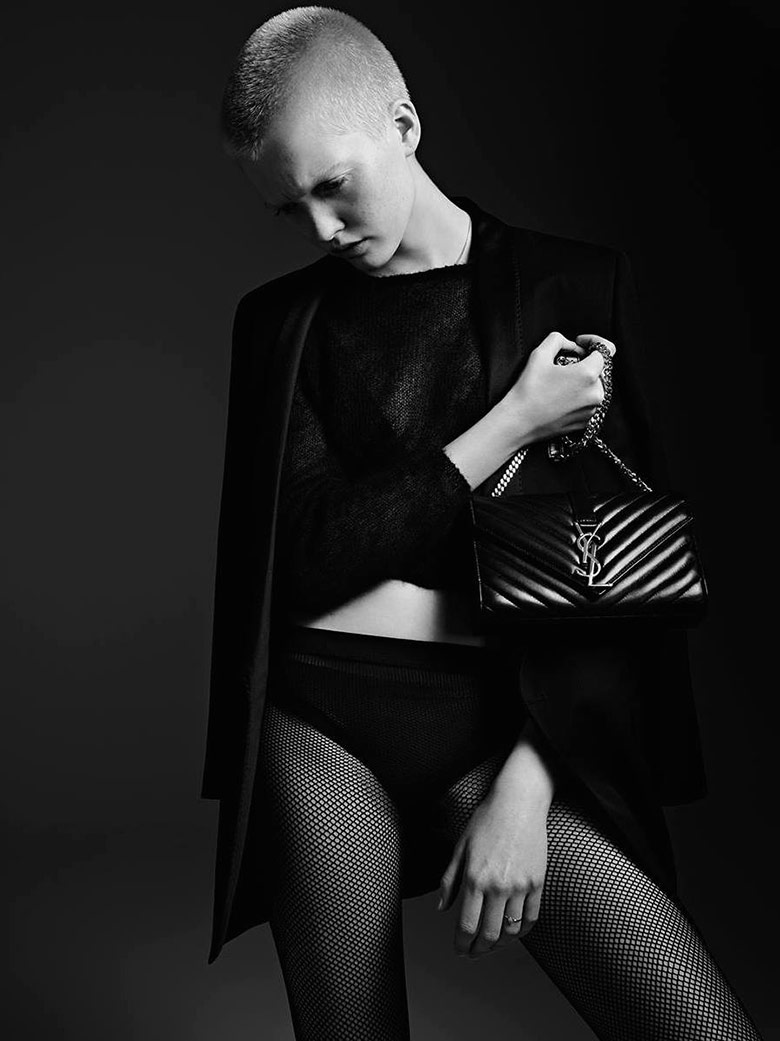 Photo Ruth Bell by Hedi Slimane for Saint Laurent Cruise 2016
