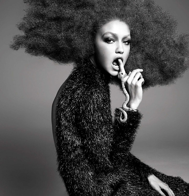 Photo Gigi Hadid by Steven Meisel for Vogue Italia November 2015