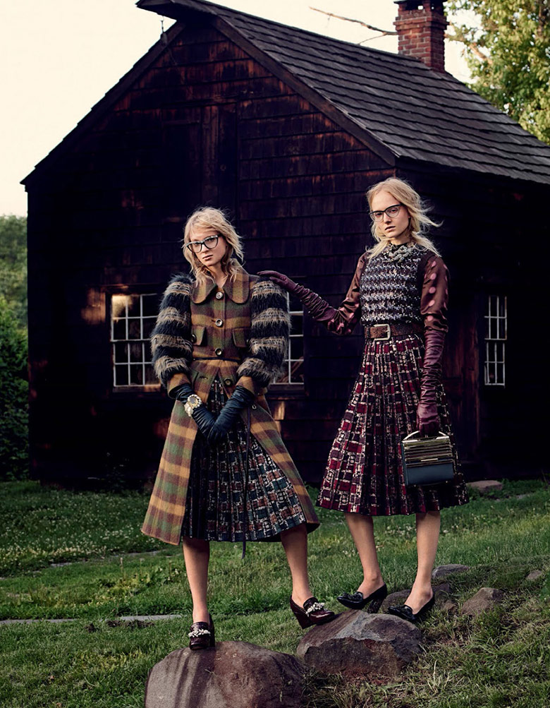 Photo Maja Salamon & Nastya Sten for Vogue Japan January 2016