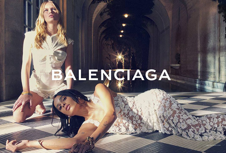 Photo Anna Ewers & Zoe Kravitz for Balenciaga S/S 2016