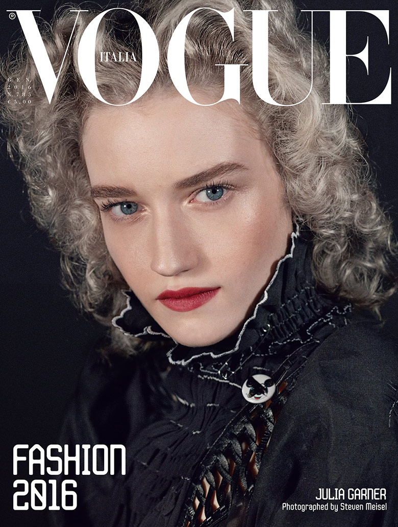 Photo Julia Garner by Steven Meisel for Vogue Italia January 2016