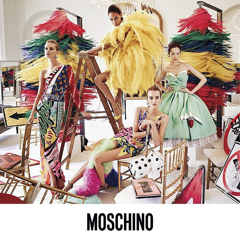 Photo Moschino S/S 2016 Campaign by Steven Meisel