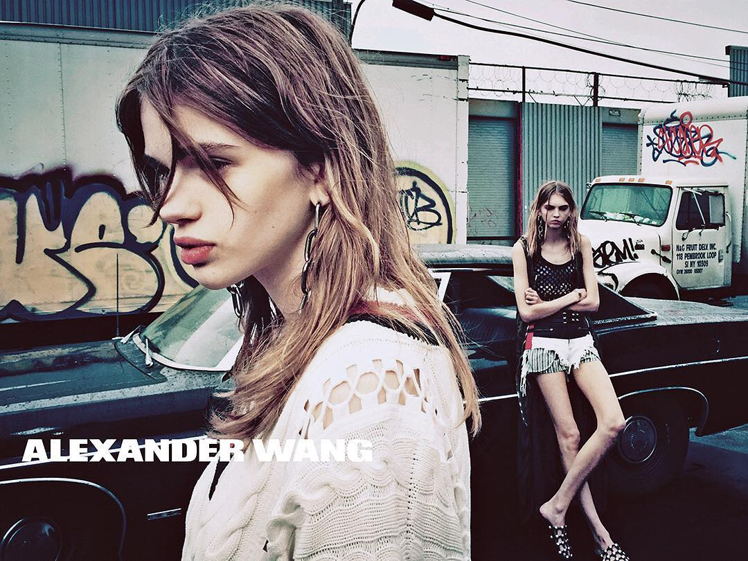 alexander wang ss 2016 campaign the fashionography