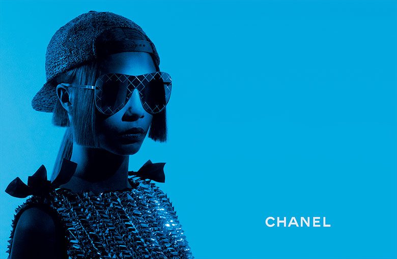 Photo Cara Delevingne by Karl Lagerfeld for Chanel Eyewear Spring 2016