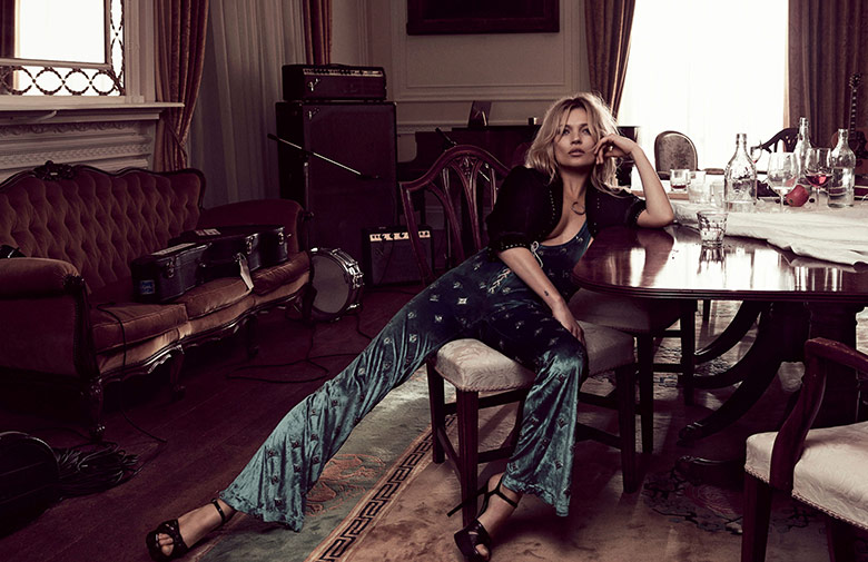 Photo Kate Moss by Craig McDean for Vogue UK May 2016
