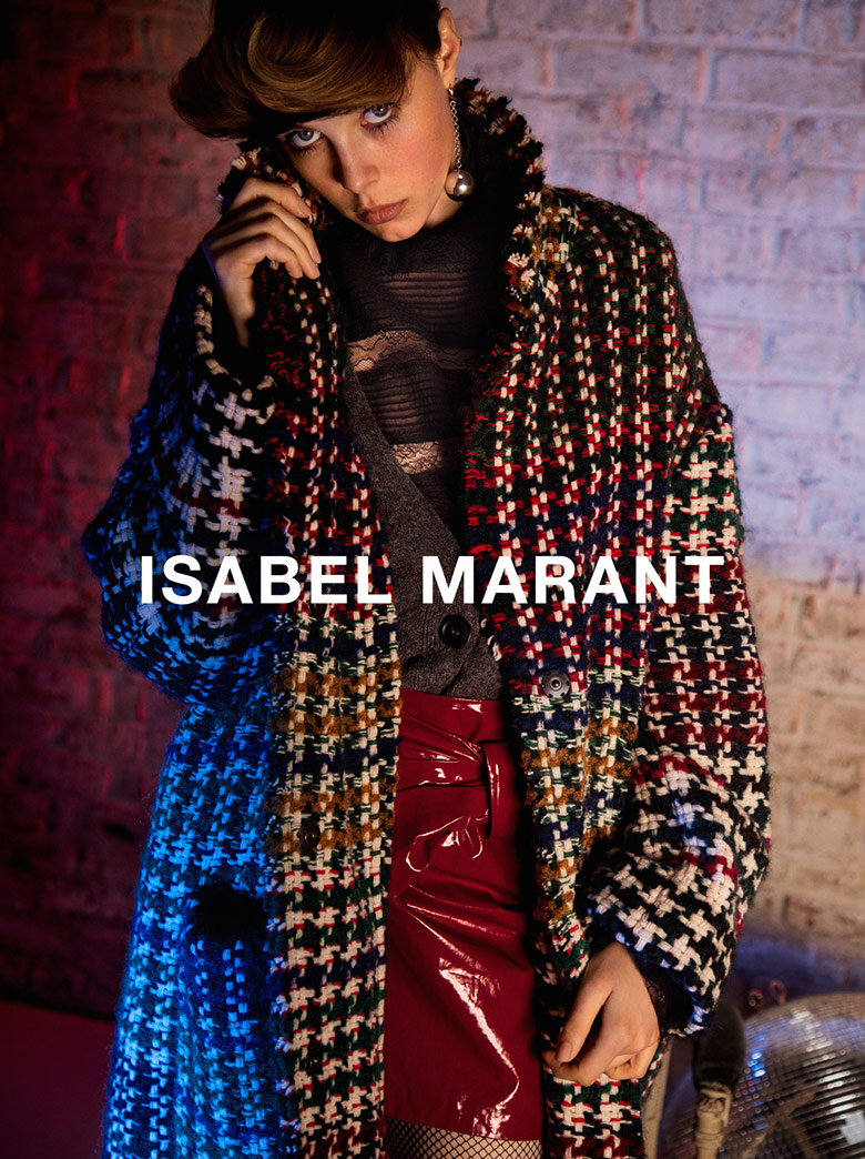 Photo Edie Campbell for Isabel Marant Fall/Winter 16/17