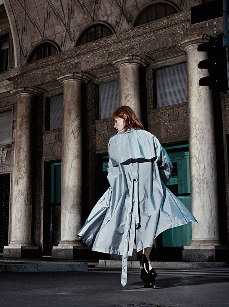 Photo Jessica Chastain by Willy Vanderperre for Prada Resort 2017