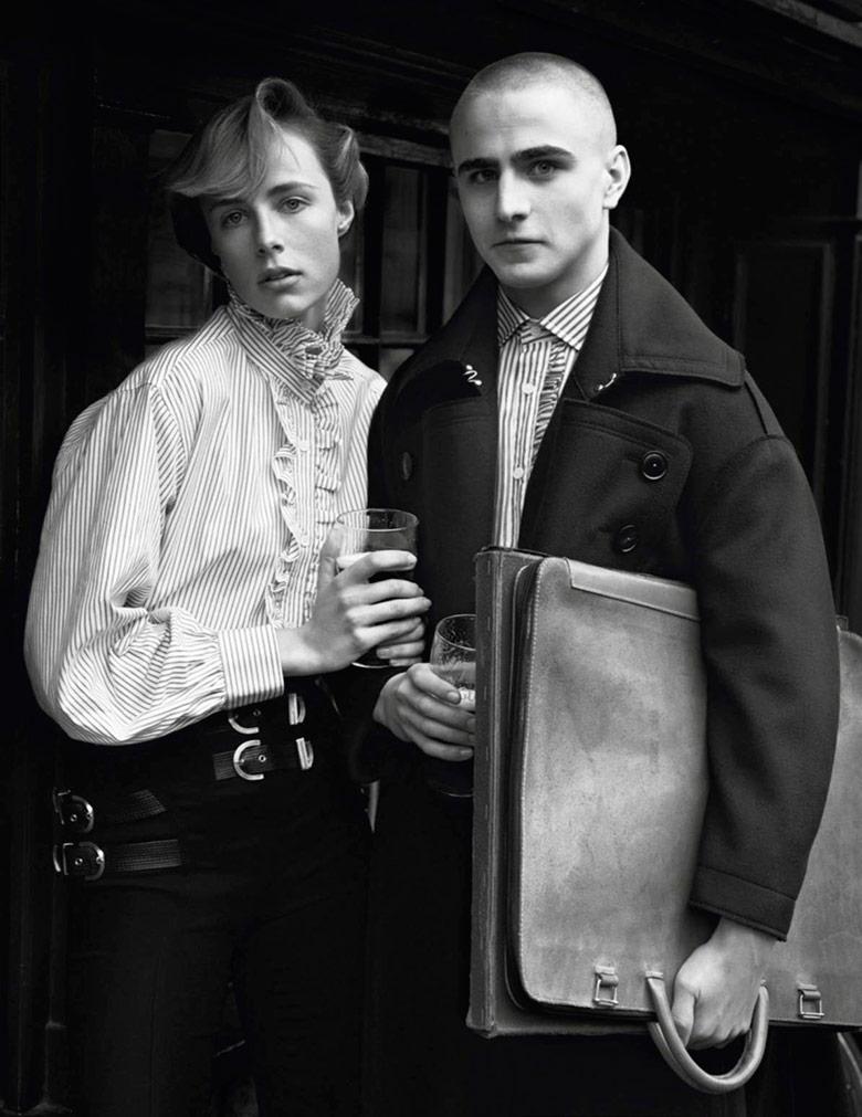 Photo Edie Campbell by Alasdair McLellan for Vogue Paris February 2017