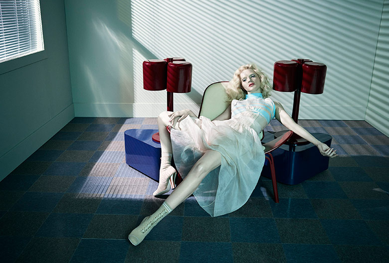 Photo Guinevere van Seenus by Emma Summerton for  Vogue Italia March 2017