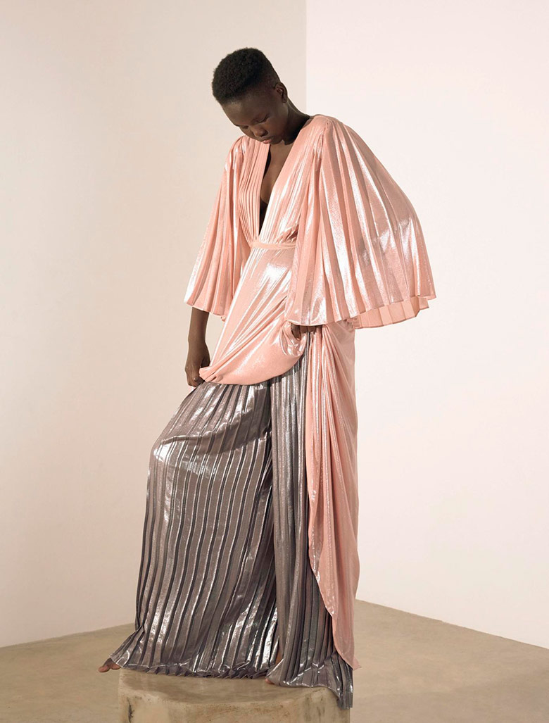 Photo Adut Akech by Janneke van Der Hagen for Numero April 2017